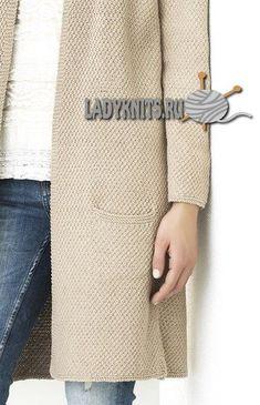 Стильный простой кардиган спицами на весну, описание Knit Cardigan Pattern, Wool Cardigan, Angora Sweater, Winter Cardigan, Oversized Cardigan, Pullover, Knit Patterns, Womens Scarves, Tricot