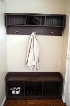 Bedroom Ana White Entryway Bench And Storage Shelf With Hooks Diy Projects Regard To Plan Trunk Plastic Seat Workshop Benches Tool Small The New Home Designs Home Projects, Home Furnishings, Home, Entryway Bench Storage, Tiny Apartment, Bench Plans, Furniture Plans, Diy Projects Plans, Home Diy