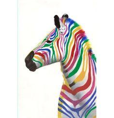 Das Wandbild von NOVEL macht einfach gute Laune! Das in Zebra in den Farben des Regenbogens bringt Farbe in ihren Wohnraum und wirkt zudem positiv und freundlich. Das Bild ist auf Leinen gedruckt und hat die Maße von ca. 60 x 90 cm (B x H). Dieses fröhliche Wandbild ist ein echter Blickfang!