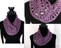 Crochet Neck Warmer Cowl by Patsy McCune https://www.facebook.com/groups/KrissysTrunkShow/