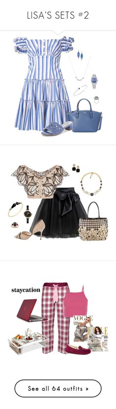 """LISA'S SETS #2"" by lwilkinson ❤ liked on Polyvore featuring Caroline Constas, Kate Spade, Kendra Scott, Lazuli, Hueb, Melissa Kaye, Rolex, Adrianna Papell, Little Wardrobe London and Nancy Gonzalez"