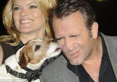 Uggie and Jean Dujardin with Missi Pyle - The Artist