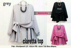 Baju Atasan Tunik Blouse Claretta Top - http://bit.ly/2iIp1hh