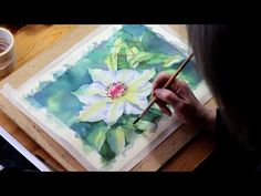 Watercolour Demo: Single White Flower Part 5 - YouTube