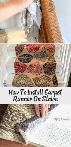 DIY Tutorial on how to install carpet runner on stairs and wood steps with or wi. DIY Tutorial on how to install carpet runner on stairs and wood steps with or without adding stair Staircase Carpet Runner, Wood Staircase, Carpet Stairs, Best Carpet, Diy Carpet, Simple Green Cleaner, Treads And Risers, Diy Design