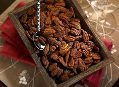 Spice up your snack list with Spicy Cocoa Glazed Pecans!