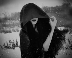 black and white, dark, and snow image Dark Photography, Girl Photography Poses, Steampunk, Dark Beauty, Gothic Beauty, Death Metal, Cyberpunk, Grunge, Yennefer Of Vengerberg