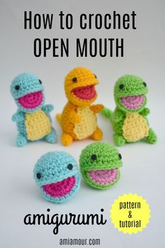 Here's how you can crochet an Open Mouth Amigurumi so you can give your amigurumis the best expressions! Free Pattern and Video Tutorial. Tutorial How to Crochet Open Mouth Amigurumi - Ami Amour Crochet Easter, Cute Crochet, Crochet Crafts, Crochet Projects, Knit Crochet, Sewing Projects, Crochet Animal Patterns, Crochet Patterns Amigurumi, Crochet Dolls
