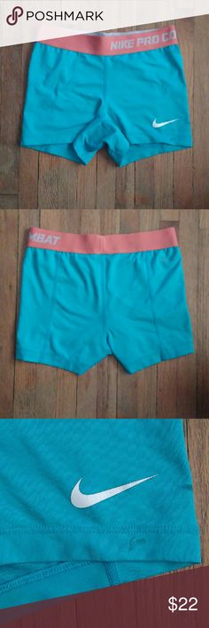 Nike Pro Combat Shorts XS Nike Pro Combat Shorts, used in good condition with very small blemish shown in 3rd picture. Very cute! Nike Shorts