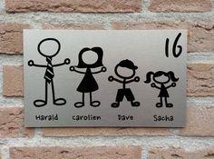 Naambord voordeur gezinssamenstelling