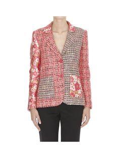 BOUTIQUE MOSCHINO Boutique Moschino Pathwork Jacket. #boutiquemoschino #cloth #