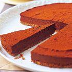 Chocolade cheesecake met bitterkoekjes