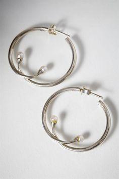 Earrings designed by Torun Bülow-Hübe for Georg Jensen, Denmark. 1970's.