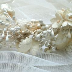 A unique handmade wedding Wreath with silk cocoons, a design inspired from the wedding ceremony in Constantinople of Desing and production of E. Wedding Ceremony, Wedding Day, Wedding Wreaths, Handmade Wedding, Silk, Treasure Chest, Inspiration, Pi Day Wedding, Biblical Inspiration