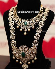 diamond_necklace_long_chain_set_by_manepally