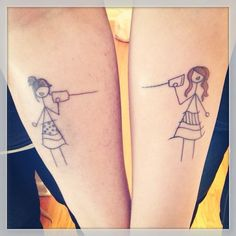 My Friend's new tattoo with her sister! #sisterlove #sistertattoos #sistersforever