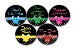 12 The Bachelorette Party Favors Personalized by PutOnYourPartyCap, $12.00