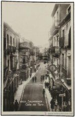 SALAMANCA. Spain, Street View, Plaza, Vintage Postcards, Antique Photos, Arched Doors, Savings Bank, Brick And Stone, Vintage Photographs