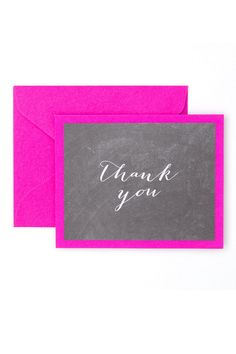 16139 chalkboard brights thank you cards - Thank You Note Cards