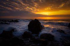 LAUPAHOEHOE SUNRISE — beautiful photo by Tom Kualii of the rugged Hamakua Coast of the Big Island of Hawaiʻi.