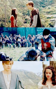 Peter and his siblings/The Chronicles of Narnia: Prince Capsian Lucy Pevensie, Susan Pevensie, Peter Pevensie, Cs Lewis Narnia, Narnia Movies, William Moseley, Prince Caspian, Chronicles Of Narnia, Good Movies