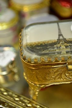 Gold Parisan Trinket Box