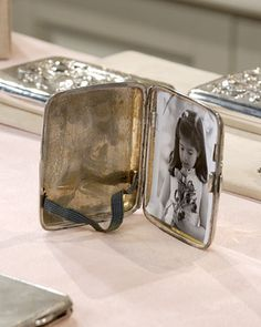 Silver Compact Picture Frames - Martha Stewart Weddings Favors or wedding party gift