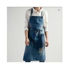 Grease, Barista, Carrie, Embroidered Apron, Work Aprons, Aprons For Men, Denim Crafts, Fabric Combinations, Linen Apron