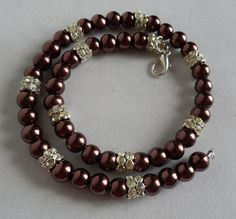 Chocolate Pearl Necklace Set/ Brown Pearl by KATcustomDESIGNS, $34.00