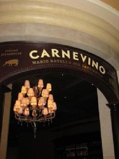 Carnevino Las Vegas, NV. Located in the Palazzo Hotel. They have an awesome caprese salad and the best lamb chops I've ever eaten. The plate arrives with 3 huge lamb chops cooked just the way you like it. The staff are very knowledgeable about wine as well. I had a great time here.