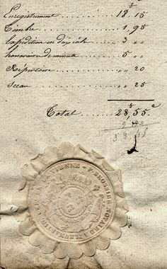 French Document. Detail. 1827.