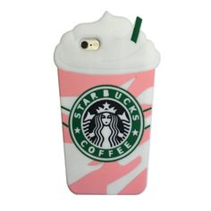 iPhone 6S Plus Case, MC Fashion Cute 3D Starbucks Pink Strawberry Frappuccinos Cup Protective Silicone Case Cover for iPhone 6S Plus (2015) & iPhone 6 Plus (2014) (Frappuccinos)