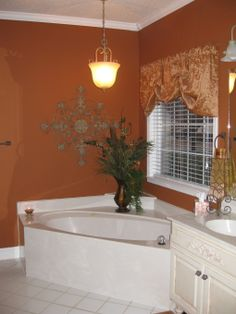 down stairs bath on pinterest by k fredericks orange