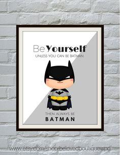 Superhero Print Set Superhero Wall Art Boys by belovedboutiquewpg