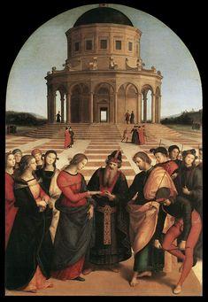 Los Desposorios de la Virgen. Rafael.