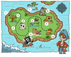 Free pirate treasure map printables for a pirate birthday party, blank treasure maps for treasure hunt clues, and pirate birthday party ideas for boys. Treasure Maps For Kids, Pirate Treasure Maps, Pirate Maps, Pirate Theme, Pirate Party, Treasure Hunt Clues, Bateau Pirate, Pirate Activities, Pirate Birthday