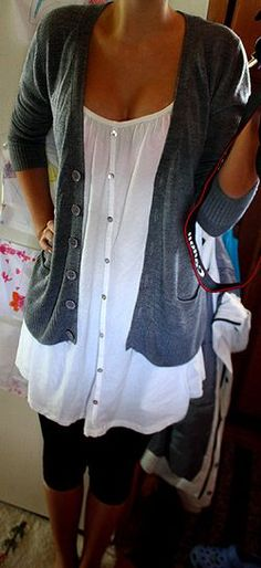 Try CAbi Jo Cardigan and Eliza Blouse with the Tech Crop