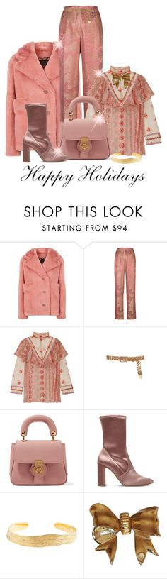 """Make Your Look Special"" by shamrockclover ❤ liked on Polyvore featuring Burberry, Etro, Anna Sui, Balmain, Stuart Weitzman, Cornelia Webb, Nina Ricci, Pink, Boots and holiday"