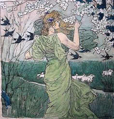 Art Nouveau Painting by Louis Rhead