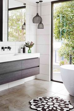 36 Best Minimalist Bathroom Design And Decor Ideas For You To Try - Do you have plans to redecorate the bathroom? Are already bored with the old design and want to change bathroom furniture? Changing the bathroom cabin. Bathroom Tile Designs, Diy Bathroom Decor, Bathroom Styling, Bathroom Interior, Small Bathroom, Master Bathroom, Bathroom Ideas, Rental Bathroom, Bathroom Bin