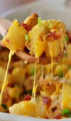 Loaded Chicken and Potato Casserole I think I would put the first 7 ingre in a ziplock bag and shake well.