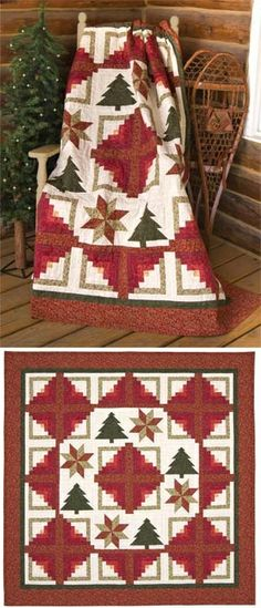 Christmas Holiday Cabin Quilt.