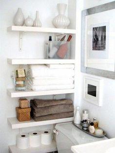 storage solution for a small apartment bathroom. / bath ideas - Juxtapost