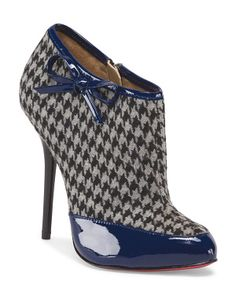 Leather Printed Ankle Bootie