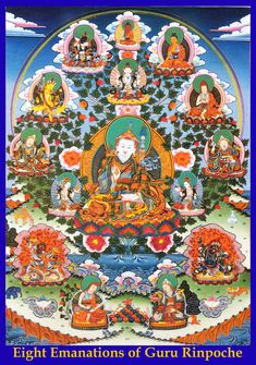 As oito emanações de Guru Rinpoche