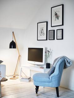 Blue details in Kålltorp, Gothenburg| Apartment for sale via broker Stadshem |Photo by Janne Olander | via Style and Create
