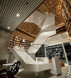 Travel Library in bustling Gangnam