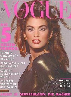 Cindy Crawford - Vogue Magazine [Germany] (October 1987)