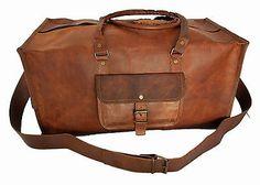 Leather Handmade Luggage Duffel Shoulder Bag Carry On Travel Women Men Weekend