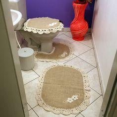 Tapetes para banheiro - 3 pças www.gostodefazer.com